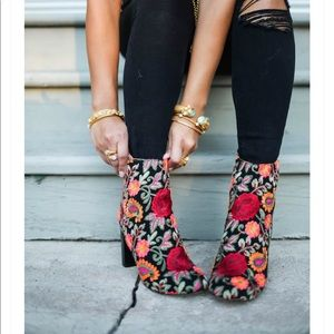 Steve Madden embroiled ankle boots